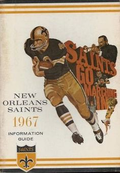 New Orleans Saints, 1967 Info Guide Best Football Team, Football Photos, Football Memes, National Football League, Nfl Photos, Football Stuff, Sports Photos, Nfl Saints, New Orleans Saints Football