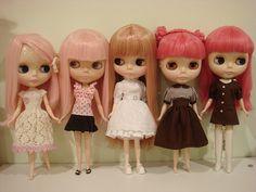 Blythe dolls.