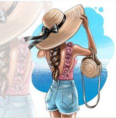 Beautiful Girl Drawing, Beautiful Drawings, Cartoon Girl Images, Cartoon Art, Girly Drawings, Fashion Wall Art, Girly Pictures, Digital Art Girl, Illustration Girl