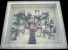 Shadow box is a box where you keep many memories there. To decorate it we have many variant shadow box ideas that could make it more interesting. Family Tree With Pictures, Family Tree Photo, Family Tree Art, Photo Tree, Family Photos, Mom Family, Family Images, Shadow Box, Shadow Tree