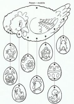61 Trendy craft for kids spring coloring pages Spring Coloring Pages, Easter Coloring Pages, Coloring Book Pages, Easter Arts And Crafts, Spring Crafts, Chicken Crafts, Easter Activities, Easter Bunny, Easter Crafts