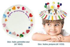 Assiettes en carton blanc - Ballons, guirlandes, serpentins – 10doigts.fr