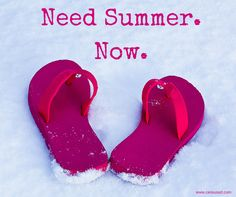 Beach Saying: Need Summer.Now. Or in Pennsylvania's case it would be flip flops on frozen mud.