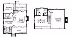 7 lovely and efficient floor plans that fit 2 bedrooms and 2 bathrooms in under 1000 square feet