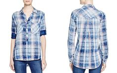 Bella Dahl Plaid Pullover Shirt