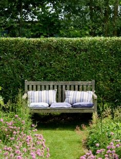 """This garden bench is from our feature """"Green Fingers"""""""