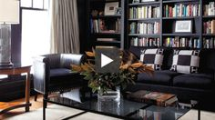 20 Trendy Home Library Cozy Ceilings Black Bookshelf, Bookshelf Styling, Built In Bookcase, Bookcase Wall, Cozy Library, Black Rooms, Home Libraries, Trendy Home, Interior Exterior