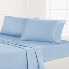 Maison Condelle Microfiber Solid Sheet Set In Blue