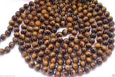 """>> Click to Buy << Free Shipping beautiful 8mm round nature tiger's-eye Beads necklace 100"""" #Affiliate"""