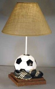 That's My Room Store - Soccer Table Lamp, $99.50 (http://www.thatsmyroom.com/soccer-table-lamp/)