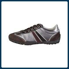 Geox , Damen Sneaker Mehrfarbig Dark Grey/Black - Sneakers für frauen (*Partner-Link)