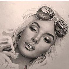 Marylin Monroe - Pencil Art