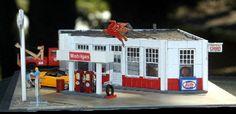 Bert's Red Horse Gas Station - Sidetrack Laser
