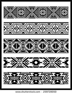 Find Navajo Aztec Border Vector Illustration Page stock images in HD and millions of other royalty-free stock photos, illustrations and vectors in the Shutterstock collection. Thousands of new, high-quality pictures added every day. Native American Patterns, Native American Symbols, Native American Design, Native Design, Navajo Tattoo, Tribal Band Tattoo, Armband Tattoo, Border Pattern, Border Design
