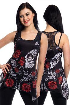 Poizen Industries Vixxsin Immortal Love Lace Panel Vest