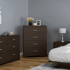 South Shore Step One 4 Drawer Chest Color: Chocolate