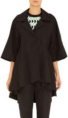 Wide Short Sleeve Swing Coat - Lyst