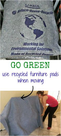 Reduce, reuse, recycle with these #recycled #FurniturePads on your next #MovingDay