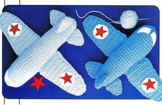 Girls Boys planes toy crochet aeroplane by GrandmaHadItGoinOn, $2.88