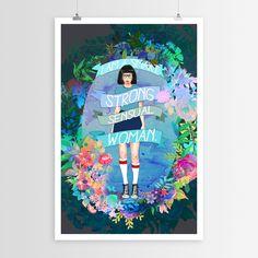 Strong Sensual Woman | Sara Eshak Art Posters | WallsNeedLove