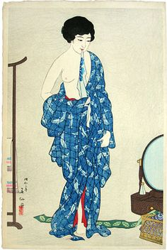 After a Bath, 1928 by Natori Shunsen