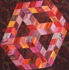 Cosmic Cube, Robin M. Haller Fiber Art
