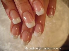 Classic French Manicure with a twist <3