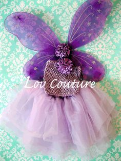 Lilac Fairy Set by LovCouture on Etsy, $40.00