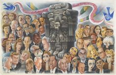 Renowned Mexican painter and caricaturist Miguel Covarrubias, who was a longtime New Yorker