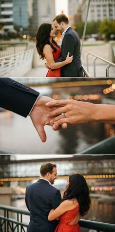 Downtown Milwaukee just has so many spots for engagement photos! Studio 29 took these amazing ones on the Art Museum bridge (top) and the Riverwalk (bottom).