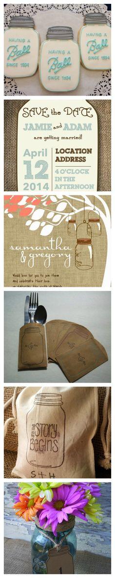 mason jar wedding ideas | Mason Jar Ideas for your Wedding. See all ... | Mason Jars can do...