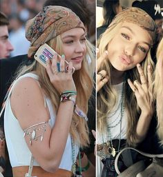 < I'd rather be at coachella > as seen on gigi hadid >