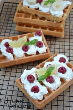 Waffles, Pancakes, Polish Recipes, Fodmap, Crepes, Cake Cookies, Bakery, Deserts, Cooking