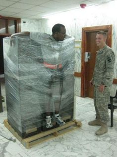 All Wrapped Up. Totally reminds me of some of the stories I've heard from hubby's last deployment. Haha