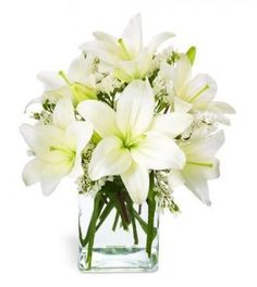 Lily reception wedding flowers,  wedding decor, wedding flower centerpiece, wedding flower arrangement, add pic source on comment and we will update it. www.myfloweraffair.com can create this beautiful wedding flower look.