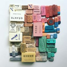 Lisa Congdon's Vintage Erasers
