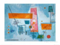 Structure Angulaire Posters par Wassily Kandinsky sur AllPosters.fr