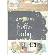 Simple Stories Hello Baby SNAP Pages Baby Scrapbook Embellishments - 11 Main