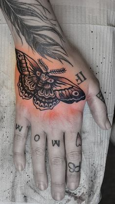 moth-tattoo union. knee piece. + laurels?
