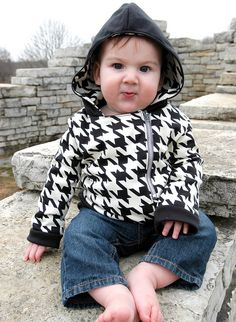 Houndstooth Hoodie :)  Adorable for Zoe.