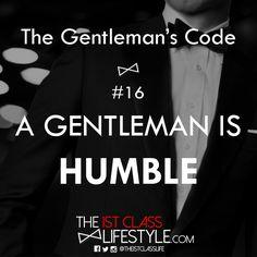 The Gentleman's Code #16 - The1stClassLifestyle.com