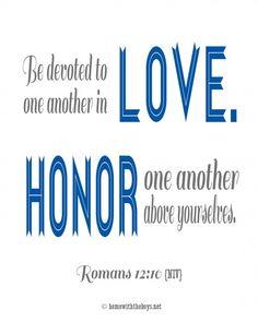 Good reading for wedding - Romans 12:10