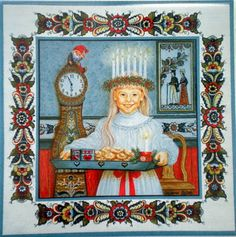 Santa Lucia Day is on December and celebrates the life of Saint Lucy and light for the longest night of the year (under the old Gre. Sweden Christmas, Scandinavian Christmas, Christmas Holidays, Christmas Tables, Modern Christmas, Christmas Art, Christmas Ideas, St Lucia Day, Santa Lucia