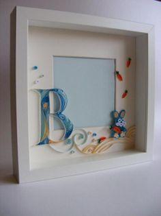 cuadro de fotos decorado con quilling  papel quilling,filigrana de papel