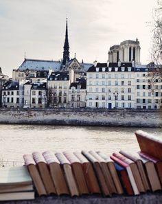 Livres, la Seine et Notre Dame de Paris… Books, the Seine river and Notre Dame by Ulrika Ekblom