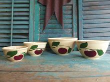 Pottery & China California Pottery Esmond Usa Pottery Lidded Fruit Bowl 3-dimensional Apple Handle Terrific Value