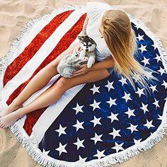 LJKEN Indian Mandala Round Roundie Beach throw, Tassel Fringing Cotton Throw Tapestry Yoga Mat Table Cloth Hippy Boho Gypsy Tablecloth wall hanging