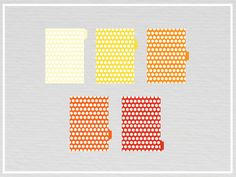 A5 filofax printable dividers  SunShine Edition by DaftarCrafts, $3.00