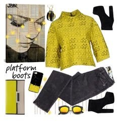 """""""Platform Boots & More"""" by petalp ❤ liked on Polyvore featuring iCanvas, Simona Corsellini, Diane Von Furstenberg, Chrome Hearts and ootd"""