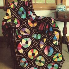 Vintage Colour Wheel Afghan: PDF PATTERN: from PastPerfectPatterns on Etsy